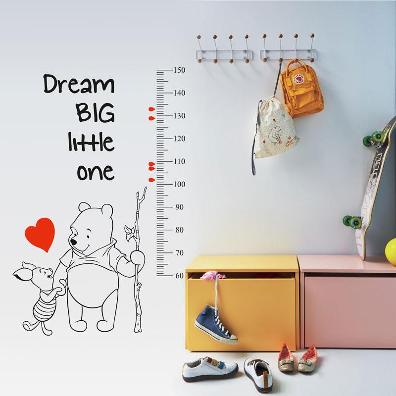 Winnie The Pooh Growth Chart Height Measure Vinyl Wall Sticker Kid Room Nursery Ebay
